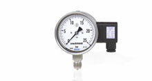 Pressure gauges with output signal