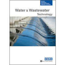 New brochure: WIKA solutions for water and wastewater applications