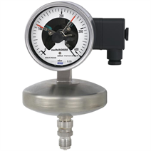 Absolute pressure gauge with switch contacts